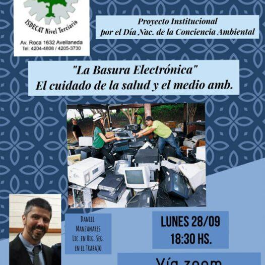 Webinario Solidario La basura electronica, el cuidado de la salud y el medio ambiente