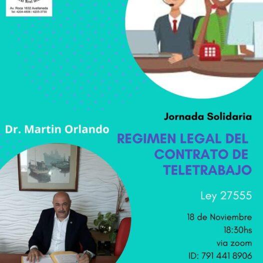 Webinario solidario Regimen Legal del Contrato de Teletrabajo 18 de noviembre 18:30h