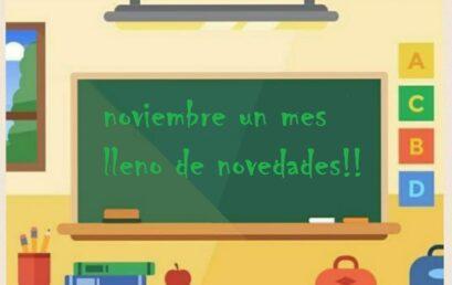 Novedades noviembre….