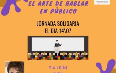 WEBINARIO SOLIDARIO DE ORATORIA 14 DE JULIO NO TE LO PIERDAS!!