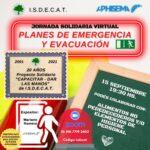 WEBINARIO SOLIDARIO PLANES DE EMERGENCIA Y EVACUACION – 15/9 19:30hs