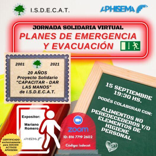 WABINARIO SOLIDARIO PLANES DE EMERGENCIA Y EVACUACION